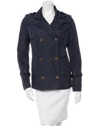 CoSTUME NATIONAL - Lightweight Double-breasted Jacket Navy - Lyst