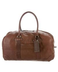 Brunello Cucinelli - Leather Duffel Bag Brown - Lyst