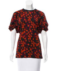 Givenchy - Gathered Printed Top Multicolor - Lyst