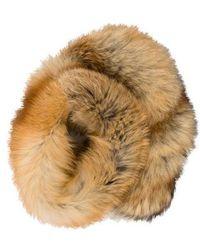 Blumarine - Fox Fur Scarf Orange - Lyst
