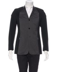 Dior Homme - Two-tone Wool Coat - Lyst