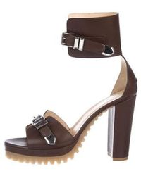 Philosophy di Alberta Ferretti - Leather Ankle Strap Sandals W/ Tags - Lyst