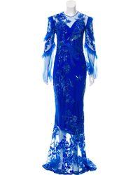 Zuhair Murad - Embellished Evening Dress Royal - Lyst