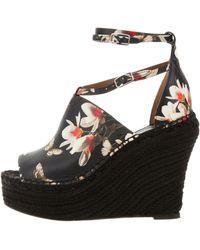 Givenchy - Floral Espadrille Wedges Black - Lyst