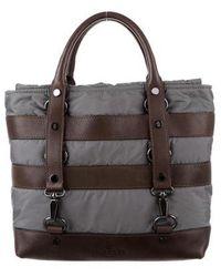 Moncler - Leather-trimmed Nylon Bag Brown - Lyst
