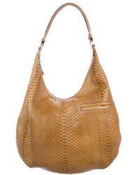VBH - Snakeskin Hobo Bag Gold - Lyst