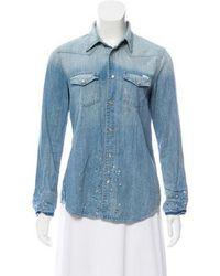Mother - Denim Button-up Shirt - Lyst