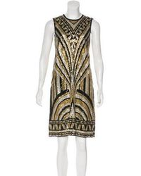 Naeem Khan - Sequined Knee-length Dress Black - Lyst