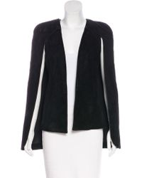 Alexis - Suede Cape Overlay Vest W/ Tags - Lyst