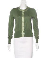 Marc Jacobs - Long Sleeve Knit Cardigan Olive - Lyst