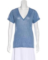 Vanessa Bruno Athé - Linen Embroidered T-shirt - Lyst
