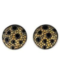 M.c.l  Matthew Campbell Laurenza - Sapphire & Enamel Round Clip-on Earrings Silver - Lyst
