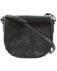 Alexander Wang - Alpha Lia Stingray Saddle Bag Green - Lyst