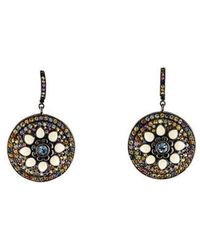 M.c.l  Matthew Campbell Laurenza - Sapphire & Enamel Drop Earrings Silver - Lyst