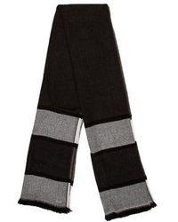 Michael Kors - Striped Raw-edge Scarf Grey - Lyst