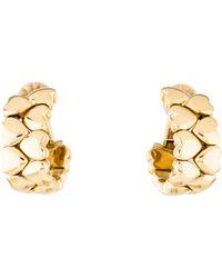 Cartier - 18k Double Row Heart Clip-on Earrings Yellow - Lyst