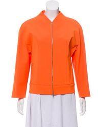 Narciso Rodriguez - V-neck Zip-up Blazer Orange - Lyst