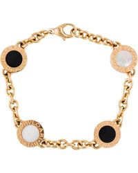 BVLGARI - 18k Mother Of Pearl & Onyx Bracelet Rose - Lyst