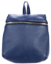 Kara - Pebbled Leather Backpack Silver - Lyst