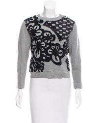 Viktor & Rolf - Velvet-embellished Crew Neck Sweatshirt Grey - Lyst