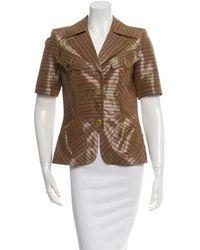 Christian Lacroix - Short Sleeve Striped Jacket Tan - Lyst