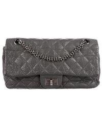 Chanel - Reissue 225 Accordion Flap Bag Grey - Lyst