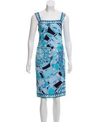 9bf061c274e5 Lyst - Emilio Pucci Silk-trimmed Shift Dress in Black