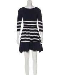 Boy by Band of Outsiders - Striped A-line Dress Navy - Lyst