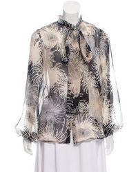 a3436495cc6829 Lyst - Vivetta Verbasco Silk-organza Shirt in Black