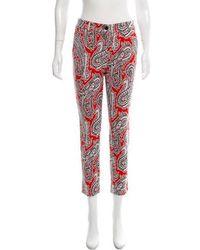 Etro - Paisley Knit Mid-rise Pants - Lyst