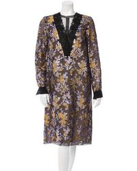 Lanvin - 2016 Lace Inset Brocade Dress W/ Tags - Lyst