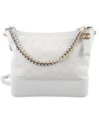 5c94bfa93d713b Lyst - Chanel Gabrielle Leather Handbag in Black