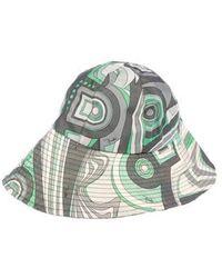 Lyst - Emilio Pucci Fuilio Print Sun Hat in Blue 5f98b842a27a