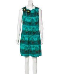 Piazza Sempione - Sleeveless Printed Dress - Lyst