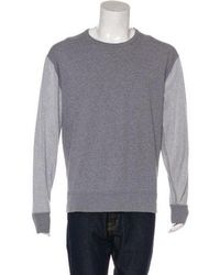 T By Alexander Wang - Contrasted Crew Neck Sweater Grey - Lyst