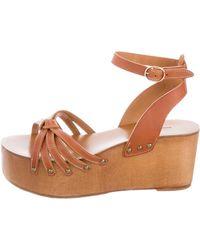 Étoile Isabel Marant - Zia Wedge Sandals Cognac - Lyst
