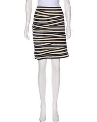 Boy by Band of Outsiders - Striped Knee-length Skirt Navy - Lyst