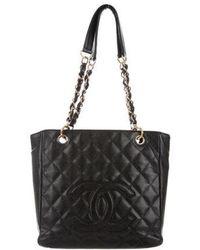 73e907da7032 Lyst - Chanel Quilted Patent Bijoux Tote Black in Metallic