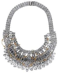 Tom Binns - Crystal And Barbed Wire Collar Necklace Silver - Lyst