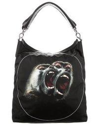 Givenchy - Monkey Print Nightingale Satchel Black - Lyst