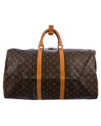 Louis Vuitton - Monogram Keepall Bandoulière 55 Brown - Lyst