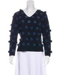 Opening Ceremony - Appliqué-accented Knit Sweater - Lyst