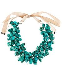 By Malene Birger - Turquoise Bead Strand Necklace Silver - Lyst