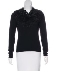 Naeem Khan - Feather-accented Cashmere Sweater - Lyst