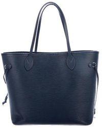 Louis Vuitton - Epi Neverfull Mm W/ Pouch Blue - Lyst