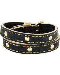 Louis Vuitton - Studded Wrap Bracelet Black - Lyst