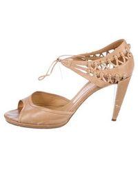 Viktor & Rolf - Leather Ankle Strap Sandals Tan - Lyst