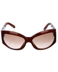 2e91a171daf67 Lyst - Chanel Square Pearl Sunglasses in Brown