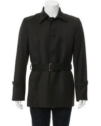 CoSTUME NATIONAL - Belted Wool Jacket Olive - Lyst