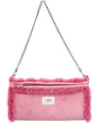 UGG - Suede & Shearling Chain-link Shoulder Bag - Lyst